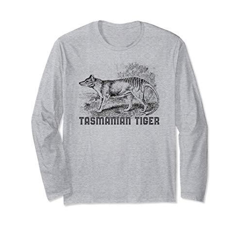 Tigre de Tasmania Lobo Thylacine Animal extinto australiano Manga Larga