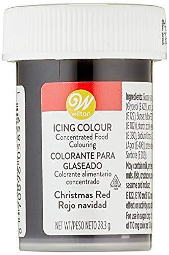 Wilton Colorante Alimenticio para Glaseado en Pasta, 28.3g, Color Rojo Navidad, 04-0-0042