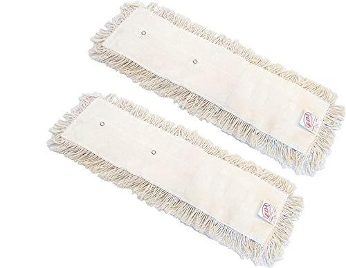 ceda - Pack 2 Recambios Mopa de Algodón Reutilizable para Limpieza y Cuidado de Suelos Parqué Valdosas   100 cm. Especial Grandes Superficies.