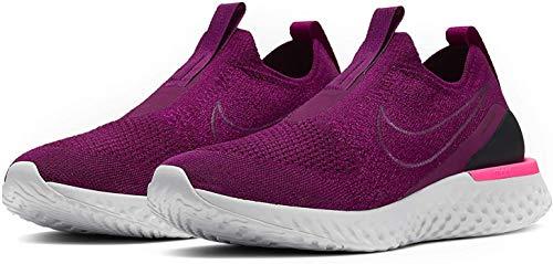 Nike Women's Epic Phantom React Flyknit Running Shoes (8M, Raspberry Red)