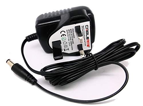 6v Bush Wooden DAB/FM Radio 356/6314 Uk mains power supply adaptor cable