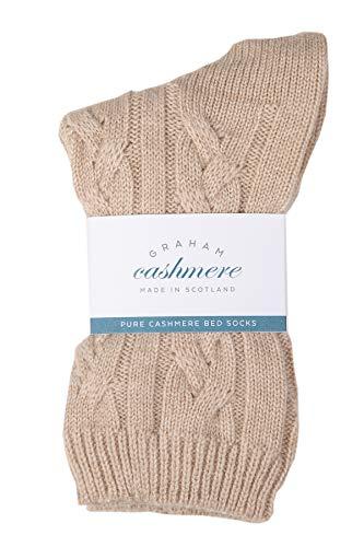 Scottish Cashmere Cable Socks