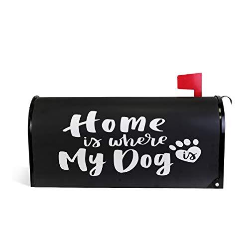 ZZKKO Home Is Waar Mijn Hond Is Magnetische Postbus Cover Wrap Post Brievenbus Cover voor Buiten Tuin Home Decor Grote Grootte 25,5 x 20,8 Inch 20.8
