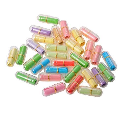 EOPER - Botellas de mensaje en forma de píldora, 100 unidades, para decoración de bodas, fiestas