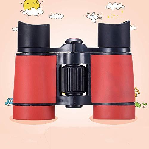 Concierto De Telescopio para Aficionados Al Aire Libre, Binoculares para Niños, Observación De Aves para Niños Que Acampan, con Bolsa De Asas, Objetivo con Lupa, Naranja