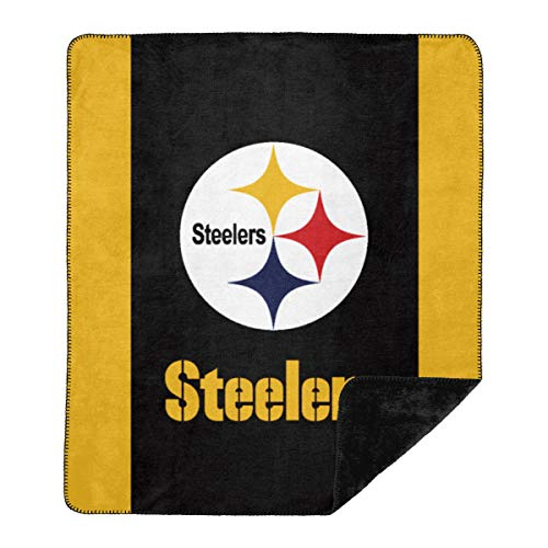 Officially Licensed NFL Pittsburgh Steelers 'Denali' Silver Knit Throw Blanket, 60' x 72', Multi Color