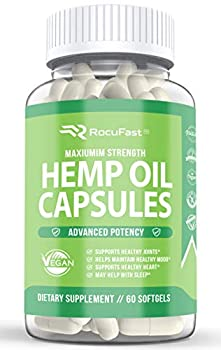 Hemp Oil Capsules for Pain Relief Stress Relief Mood Support Sleep Support Immune Support Omega 3 6 9 Softgels for Men and Women 1000mg - Compare to Gummies Powders and Liquid Drops  1-Pack 60 Count