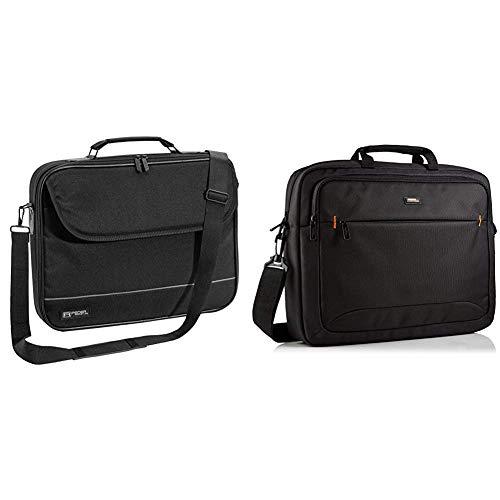 PEDEA Laptoptasche Fair Notebook-Tasche bis 17,3 Zoll (43,9 cm) Umhängetasche mit Schultergurt, Schwarz & AmazonBasics NC1406118R1 Laptop-Tasche, für eine Bildschirmdiagonale von 44cm (17,3Zoll)