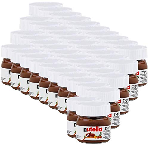 Ferrero Nutella Mini Glas Brotaufstrich Schokolade 25g - Nuss-Nougat (42er Pack)
