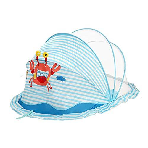 GANG Cama de Bebé Cuna Plegable Portátil Mosquito Net Cots Portátiles Recién Nacido Cuna Plegable sin Fondo Anti-Bug Cib Sun Shelter, Azul, Medio Fácil instalación/Azul/S