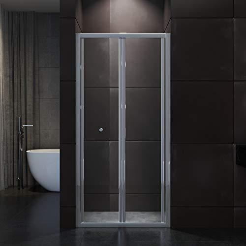 SONNI Falttür Duschkabine Duschtür Duschwand faltbar 90x185cm