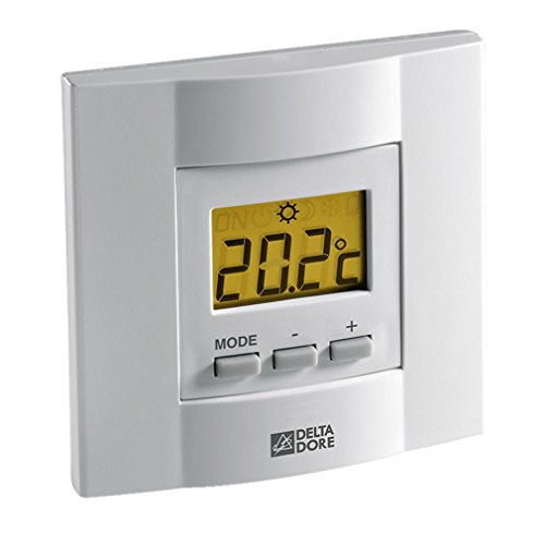 Delta Dore 6053034 Termostato Ambiente Caldera Tybox 21, Blanco