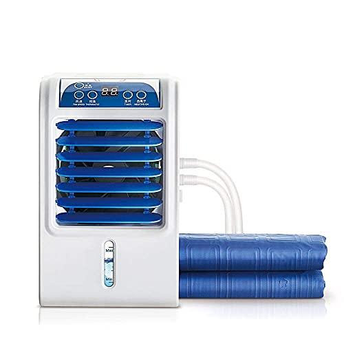 YANGLOU -Airco- Elektrische Water Cool Mat Matras Koeler, Koeling Matras Topper met Persoonlijke Mini Airconditioner Bed Conditioning System, Dubbel 160x140cm, Geschikt voor Indoor, Auto, Reizen/LQB