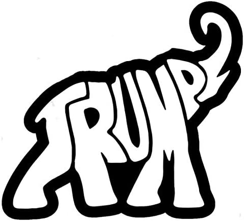 Trump Elephant Decal Vinyl Sticker Cars Trucks Vans Walls Laptop Black 5 5 x 5 0 in DUC844 product image