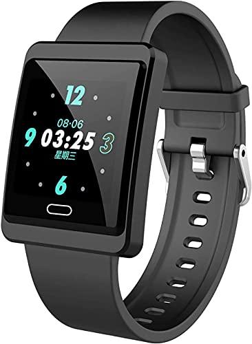 Reloj inteligente Fitness Trackers Hr Fitness Tracker Ritmo cardíaco Presión arterial Monitor de Salud Contador de Pasos Podómetro Cronómetro Negro