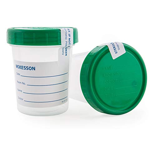 McKesson 569 Specimen Container Polypropylene/Polyethylene Screw Cap 4 oz. / 120 Cc Sterile (Pack of 100)