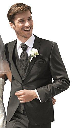 Wilvorst Sakko zum Hochzeitsanzug Dante, Marone in Glanztropical, Uni, Drop 8, Mix & Match Größe 50