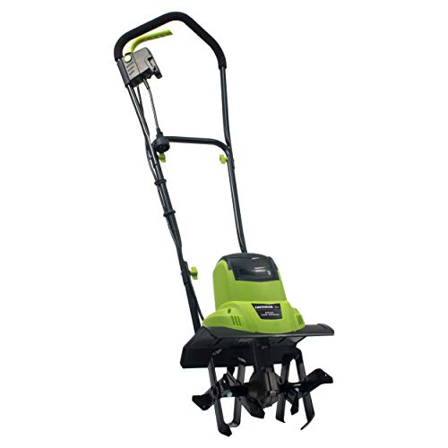 Earthwise TC70065 6.5-Amp 11-Inch Corded Electric Tiller/Cultivator, Green