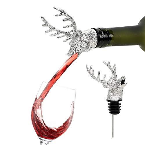 No logo Wein-Stopper Bar Werkzeuge Wein Extractor Weinausgießer Deer Hirschkopf Lustige Flaschen-Stecker-Edelstahl-Kronkorken-Abdeckung