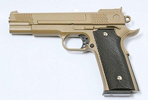 Galaxy pistola para airsoft, tipo Smith & Wesson M945 Desert, con funda, resorte completamente metálico, de recarga manual (0,4 julios)