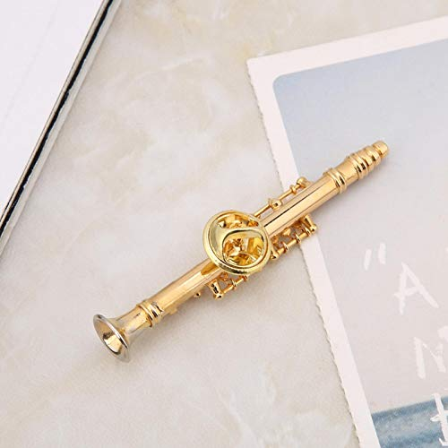 Broche de clarinete Broche de instrumento de clarinete Caja de regalo para una variedad de ocasiones