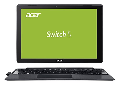 Acer Switch 5 (SW512-52-71TN) 30,5 cm (12 Zoll Multi-Touch QHD IPS) 2-in-1 Laptop (Intel Core i7-7500U, 8 GB RAM, 256 GB PCIe SSD, Intel HD, Win 10) anthrazit