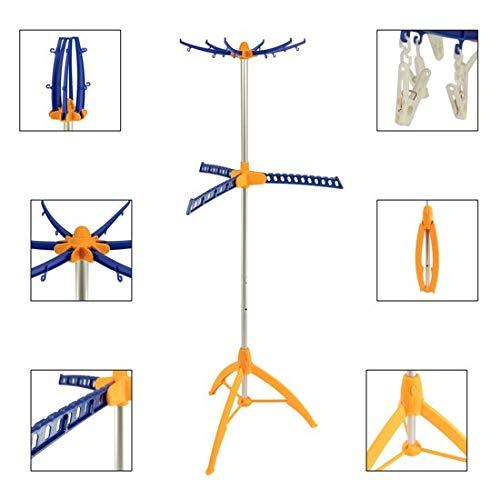 MaxxGarden - Tendedero plegable para ropa de 3 brazos para interior y...
