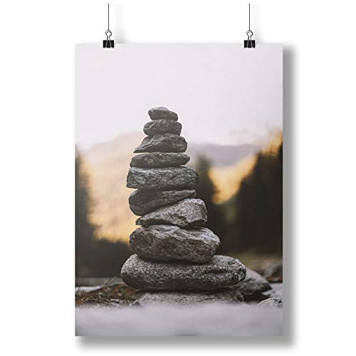 INNOGLEN Pyramid of Black Stones A0 A1 A2 A3 A4 Satin Foto Poster a3729h