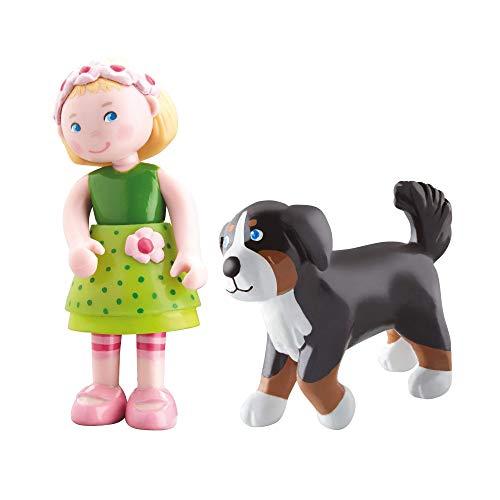 HABA 300513 - Little Friends Biegepuppe Mali (Mali + Hund Leika, 2 Puppen)