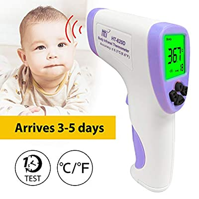 Thermometer Forehead Onkessy Non-Contact IR Infrared Thermometer Digital Laser Temperaturer for Kids Adults
