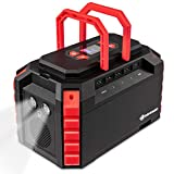 Portable Power Station, 222Wh Backup Lithium Battery, Dual 110V/200W AC Outlets, Solar Generator, 1 USB Type C Port, 4 USB-A Ports, 4 DC Ports, Flashlight for Emergency Camping Outdoors Travel Hunting