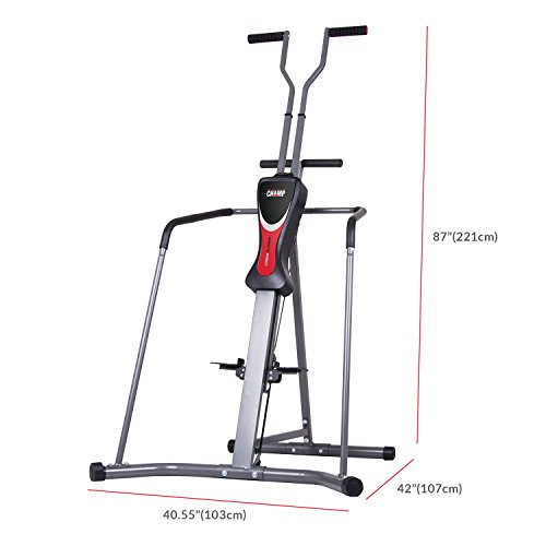 Body Champ Leisa Hart Cardio Vertical Stepper Climber / Includes Assembly Video, Meal Plan Guide, Workout Video access BCR890,Gray
