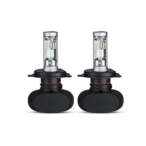 ZGMA 2pcs Ampoules électriques 50W LED Haute Performance 4 Lampe Frontale For Universel Tous les modèles Toutes les Années White Flood 2 H4