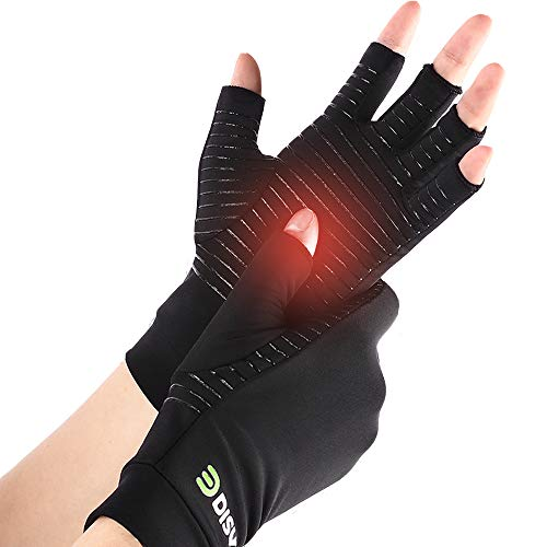 DISUPPO Copper Arthritis Compression High Copper Infused Gloves Support for Men/Women, Relieve Pain...