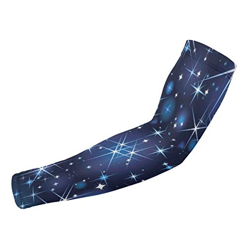 Rterss Starlight Shines Blue Star Bright Sky Personalisierte Armschutzhüllen Sonnenschutz Warm Unisex Outdoor Sport (1 Paar)