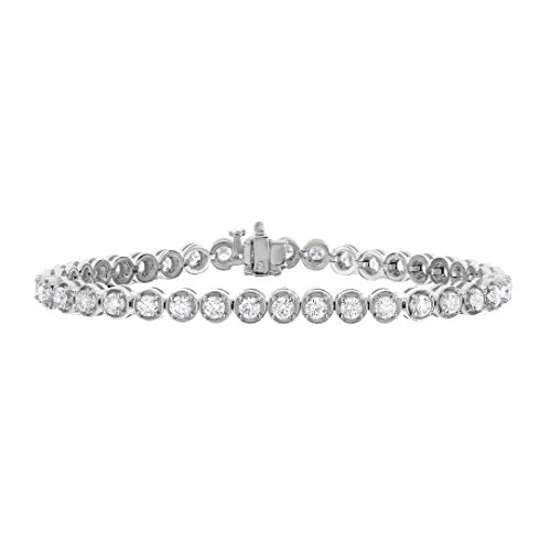 4 cttw Certified SI2-I1 Classic Diamond Tennis Bracelet 14K White Gold 7 Inches H-I Color