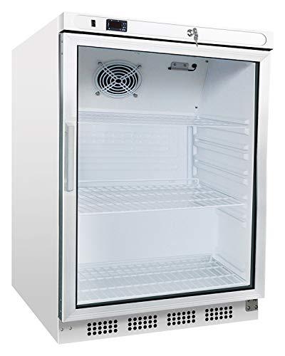 Kühlschrank mit Glastür 200 Liter Getränkekühlschrank Flaschenkühlschrank Gastro