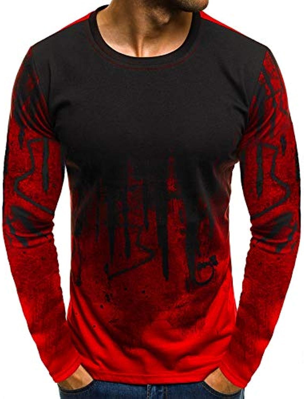 YKDDJJ Casual Kurzarm Mnner T-Shirt Mnnlich T-Shirts Fitness Camouflage Gedruckt Leicht Und Atmungsaktiv L Rot