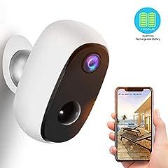 Kamera monitorująca z baterią 10000mAh, bezprzewodową zewnętrzną kamerą IP Wi-Fi 1080P z wykrywaniem ruchu PIR, lepszą jakością baterii, 2-kierunkowym dźwiękiem, widzeniem w nocy, zintegrowanym gniazdem SD, wodoodpornym IP65