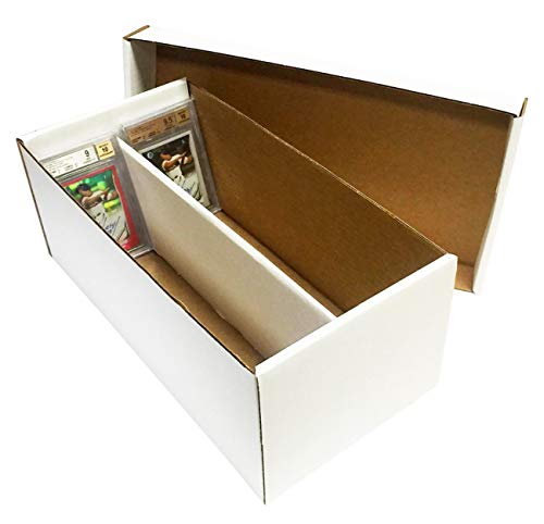 (10) Graded Shoe 2-Row Cardboard Storage Boxes - Baseball, Football, Basketball, Hockey, Nascar, Sportscards, Gaming & Trading Cards Collecting Supplies by MAX PRO - GSB image