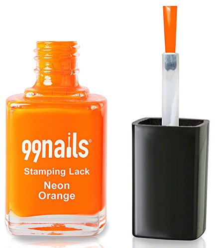99nails Stamping Lack - Neon Orange, 1er Pack (1 x 12 ml)