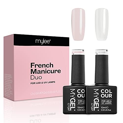 MyGel - Esmalte de uñas de gel para manicura francesa, 2 x