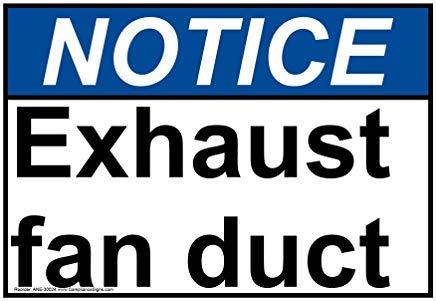 Wendana Kennisgeving Uitlaat Ventilator Kanaal ANSI Veiligheidsbord, Grappige Tin Metalen Waarschuwingsborden voor Eigenschap, Aluminium, Poortbord, Hek Teken Buiten, 8