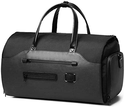 OZUKO Gym Bag Backpack, 4 in 1 Carry-on Garment Bag Large Duffel Bag Suit Travel Bag Weekend Bag Flight Bag Overnight Bag with Shoes Compartment (Black 1)