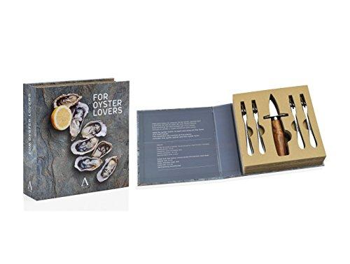ANDREA HOUSE - Set de abridor de ostras y 4 Tenedores de Acacia y Acero Inoxidable