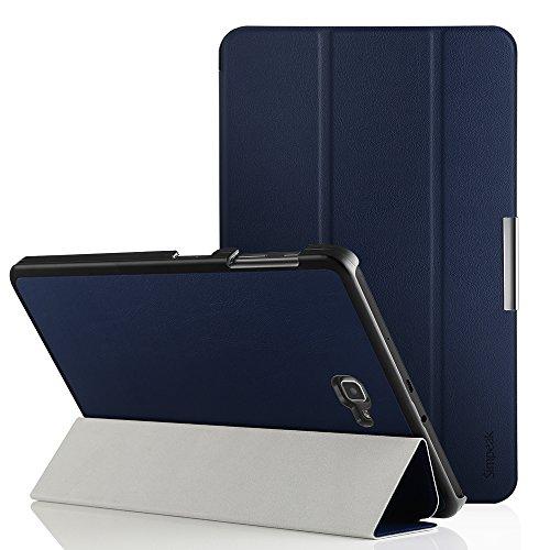 Simpeak Funda Compatible con Samsung Galaxy Tab A 10.1 (SM-T580 / T585), Carcasa Compatible con Galaxy Tab A 10.1 Case Multi-Angulo Cubierta Folio con el Soporte Reposo Automatico de Despertador, Azul