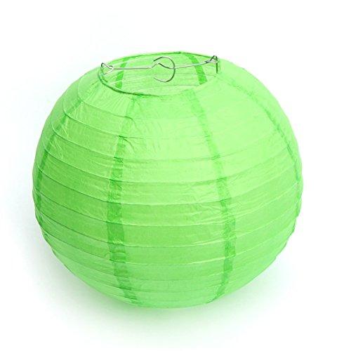 Kentop 10Stk Papier Laterne Lampions Bunt Papierlaterne Rund Lampenschirm Hochtzeit Dekoration Papierlaterne Ballform