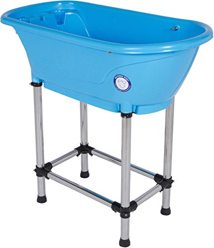 Flying Pig Pet Dog Cat Washing Shower Grooming Portable Bath Tub (Blue, 37.25'x19.25'x35.25')