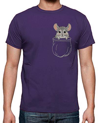 latostadora - Camiseta Chinchilla para Hombre Morado XXL
