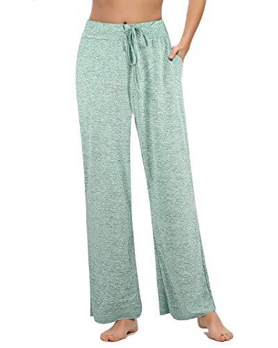 Pantalones Casuales de Pierna Ancha de Cintura Alta para Mujer, Pijama de...